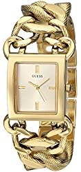 GUESS Women's U0526L1 Gold-Tone Watch with Link Bracelet