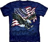 The Mountain Men's Eagle Talon Flag Shirt, Blue, Large