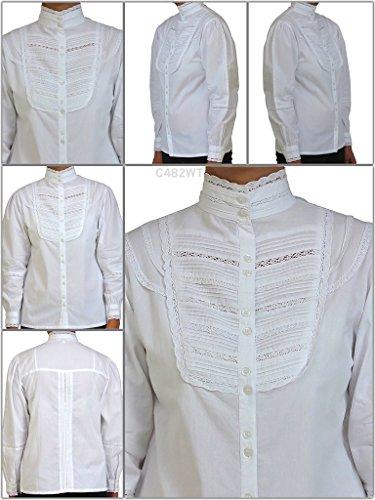 Cotton Lane coton victorienne / edwardian vintage blouse. Tailles Franais 36-62