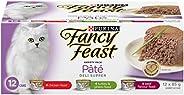 Fancy Feast Wet Cat Food, Deli Supper Pâté Variety Pack 85 g Cans (12 Pack)