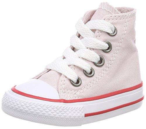 Converse Ctas Hi Barely Rose/Enamel Red/White, Zapatillas Altas Unisex Niños Pink (Barely Rose/Enamel Red/ White)