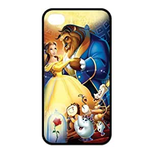Mystic Zone Beauty and The Beast iPhone 4 Case for iPhone 4/4S Cover Classic Cartoon Fits Case KEK1402
