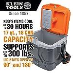 Work Cooler 17-Quart, Keep Cool 30 Hours, Seats 300 Pounds, Tradesman Pro Tough Box Klein Tools 55600
