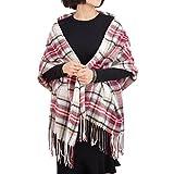 ADUO Women Cashmere Scarf Fashion Long Plaid Shawl Warm Lattice Large Scarf Fashion Scarves for Women Girl Lady