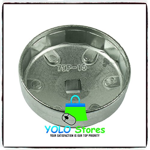 Oil Filter Tool Kit Removal Wrench Cap Car Garage Set Loosen Tighten Cup Socket Truck 23PC By YOLO Stores by YOLO Stores (Image #8)