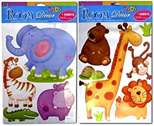 Amazon.com: Safari Animals Jungle Rainforest Wall Stickers ...