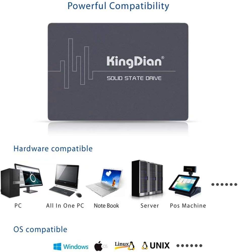 S280 120 GB KingDian 2,5 Zoll SATA 6 Gb//s High Speed interne SSD 120 GB 128 GB f/ür Tablet Desktop PC bis zu 562 MB//S