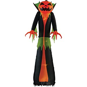 Gemmy Home Accents Holiday 12 ft. Pre-Lit Inflatable GhostFlame Wicked Pumpkin Creeper (RRPm) Airblown