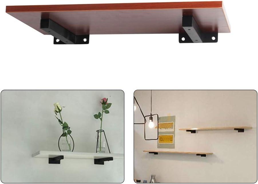 /étude /étag/ère Murale r/étro Salle de Bain Cuisine XHXseller 2pcs Supports de Tablette Flottante Supports d/étag/ère en m/étal Industriel pour /étag/ères flottantes /à la Ferme Bureau