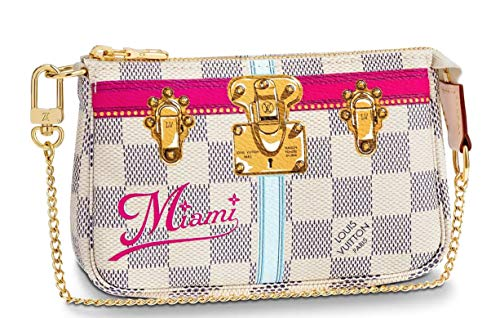 - MIAMI WRISTLET MINI POCHETTE ACCESSORIES Louis Vuitton Summer Trunk Bag Pouch Clutch LTD