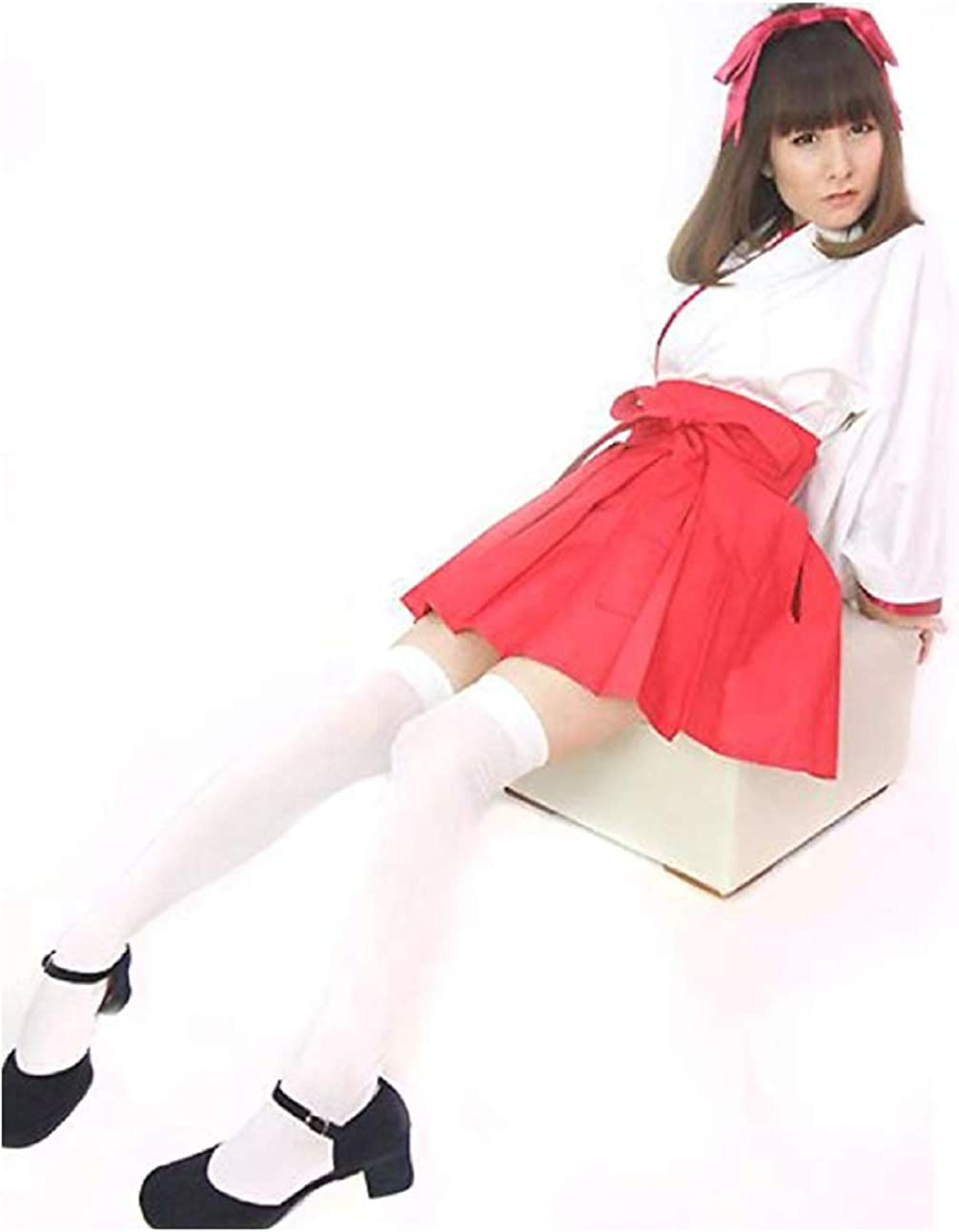 Peachi S009 Womens Halloween Miko Costume Kikyo Style Japanese Cosplay (M)