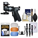 Vanguard GH-300T Tripod Pistol Grip Ball Head with Shutter Release with Flash Diffusers + Cleaning Kit