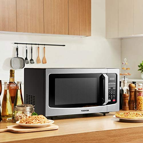 Toshiba EM131A5C-SS Microwave Oven with Smart Sensor, Easy Clean Interior, ECO Mode and Sound On/Off, 1.2 Cu. ft, Stainless Steel