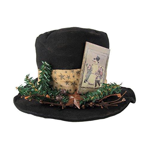 Tall Black Cloth Snowman's Top Hat Table (Tall Hat Snowman)