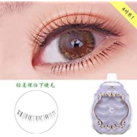 ICYCHEER Japanese Natural Look Lower Under Bottom Eye Lashes Extension False Eyelashes Clear Strip Band 4 Pairs/Box Eyelashes Extension Set