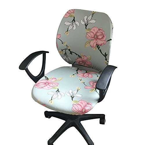 Meloshow Office Desk Chair Covers - Protective & Stretchable Universal Chair Cover Stretch Rotating Chair Slipcovers