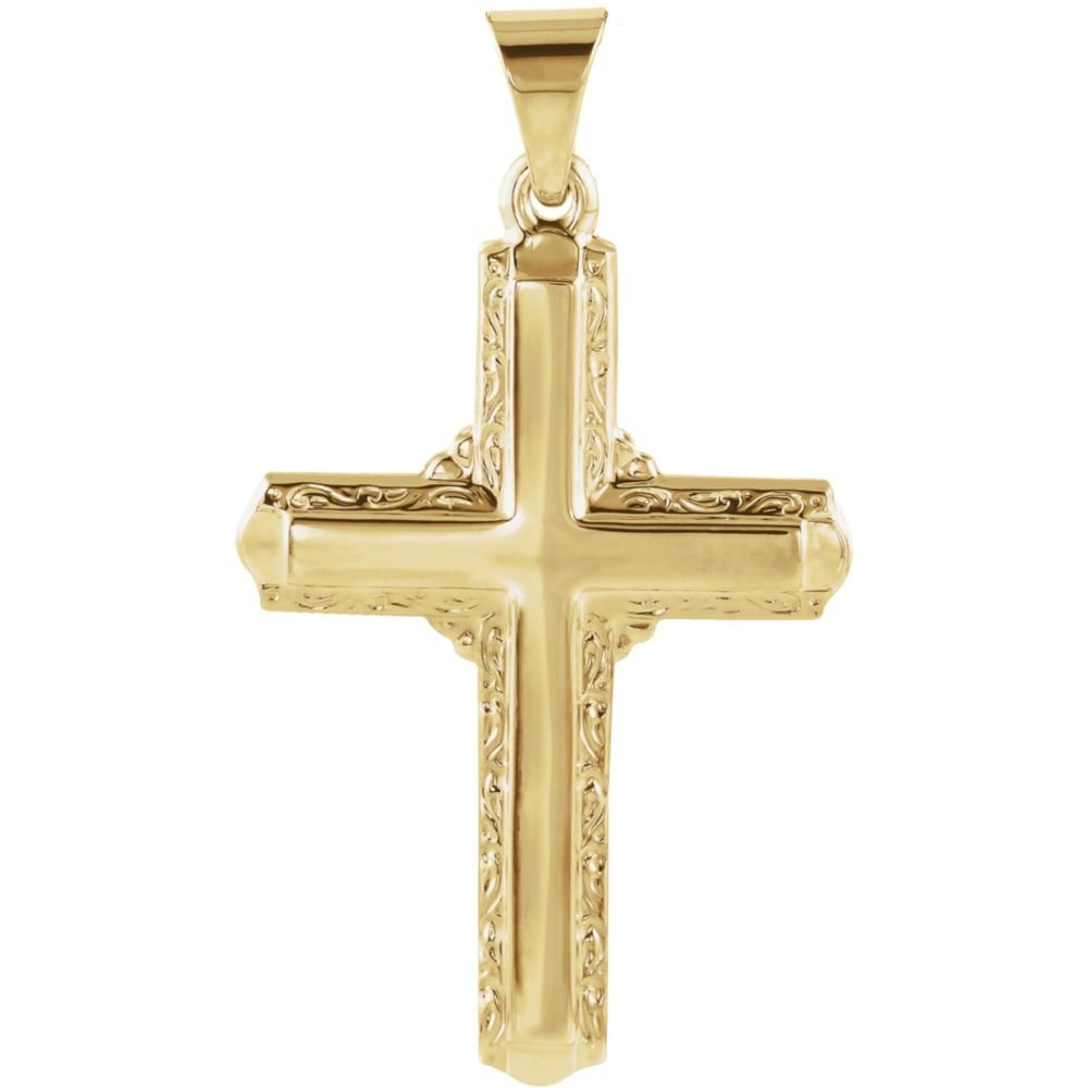 Jewels By Lux 14K Yellow Gold 26x18mm Cross Pendant