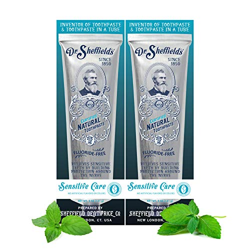 (Dr. Sheffield's Certified Natural Toothpaste (Sensitive) 2 Pack)