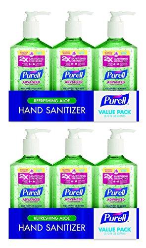 Instant Foot Sanitizer - Advanced Instant Hand Sanitizer Aloe 12 oz Bottle - Pack of 3, 6 Pack
