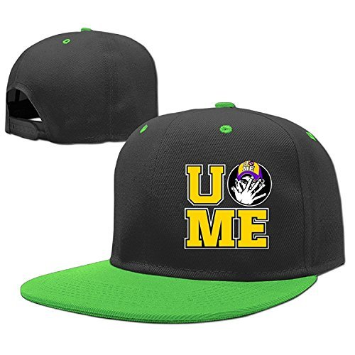 Cant See Me John Cena U Poster Logo Boys Flatbrim Hip Hop Fitted Hats Caps