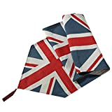 Meiduoduo Decorative Cotton Linen Table Runner, The British Flag Pattern Cotton Soft Table Cloth Coffee Mat Decoration Cloth For Home Event Party Decor (1 Table Runner)