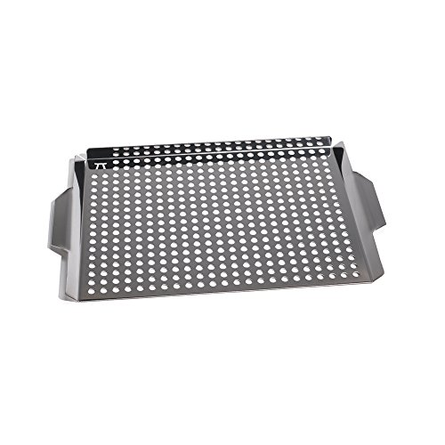 Large Grill Grid with Handles, Stainless Steel
