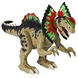 Dilophosaurus Toy - Walks, Roars and Stomps with Flapping Neck Frills and Light-Up Head Crests - Electronic Dinosaur Figure Moves on Its Own - Fun Motorized Dinosaurs Toy for Kids Ages 3+