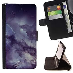 Momo Phone Case / Flip Funda de Cuero Case Cover - Misty nublado estrellado cielo nocturno - Sony Xperia Style T3
