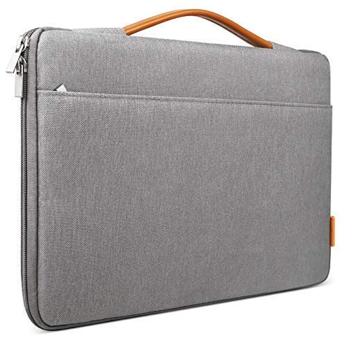 Inateck 15-15.4 Inch Laptop Sleeve Briefcase Bag Compatible 15'' MacBook Pro 2013-2015/MacBook 2016 2017 2018/Surface Book 2 - Dark Gray