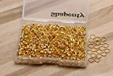 Shapenty 1000PCS Gold Plated Iron Open Jump Rings