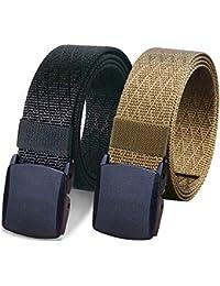 2 Pack Nylon Belt Outdoor Military Web Belt 1.5