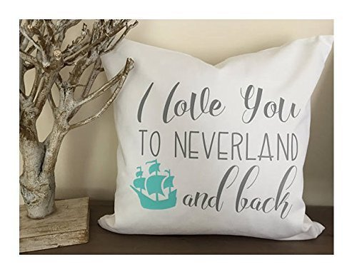 Peter Pan Neverland pillow cover, nursery pillow cover, 16x16 in Kids Custom Sham, neverland lost boy, gift for kid, cushion - Diy Rangers Power