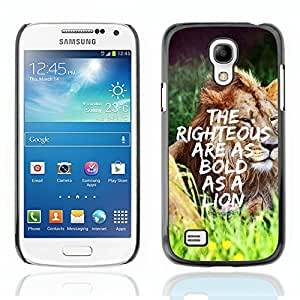 CASE OF EDEN - Christian Bible Verse Hard Back Case Cover FOR SAMSUNG S4 MINI i9190 - Proverbes 28:1