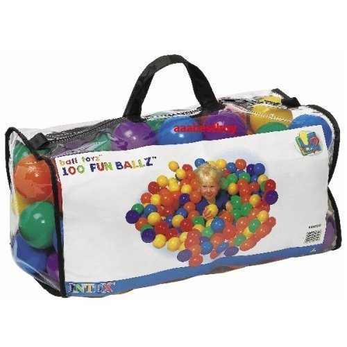 Intex ''Phthalate Free'' EP Version Fun Ballz Pit 100 Ball Pack with carry bag