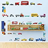 DecalMile Cars Wall Stickers Transports Kids Room Wall Review and Comparison