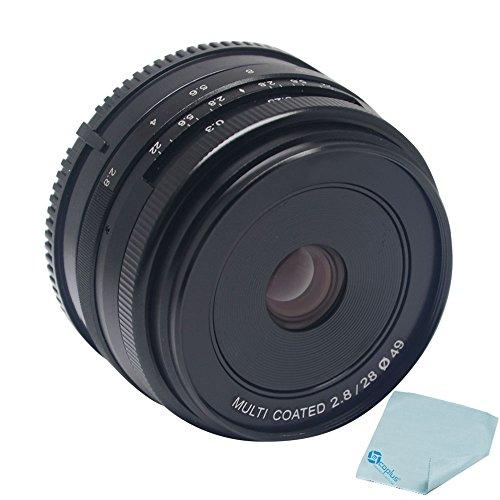 Meike MK-F-28-2 8 28mm f2 8 大絞りマニュアル マルチ コーティングされたフォーカス レンズ APS-C の富士フイルム ミラーレス カメラ X A1 X A2 x-e1 X E2 X E2S X M1 × T1 × T10 X Pro1 X-Pro2 + Mcoplus クリーニング クロス