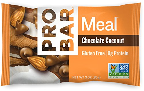 Price comparison product image PROBAR - Meal Bar - Chocolate Coconut - Organic Oats, Nuts, and Seeds, Soy-Free, Gluten-Free, Non-GMO Project Verified, Plant-Based Whole Food Ingredients, Protein, Fiber - Pack of 12 Bars