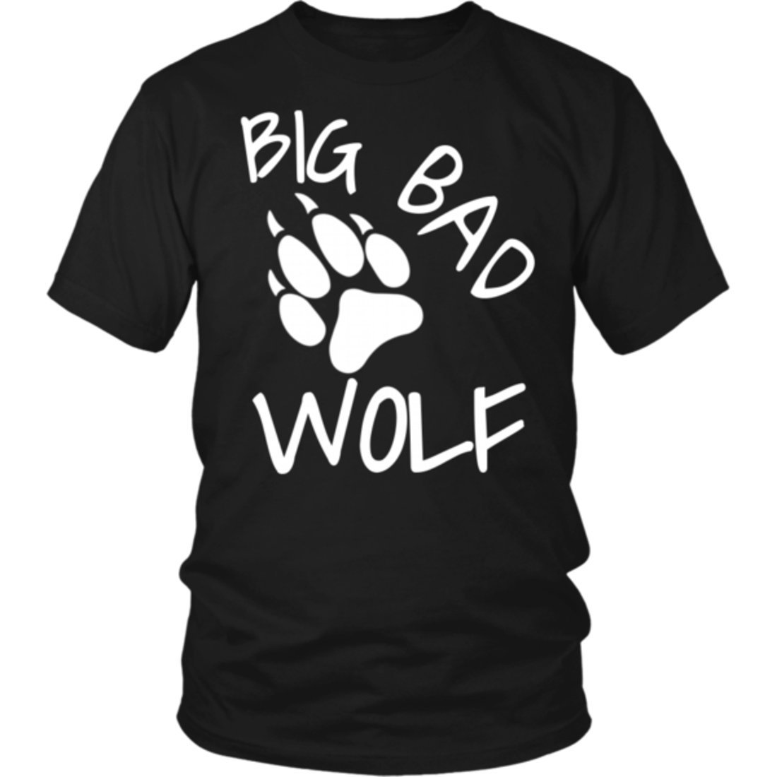 Big Bad Wolf Paw Distressed White Funny Novelty T Shirt-AZP