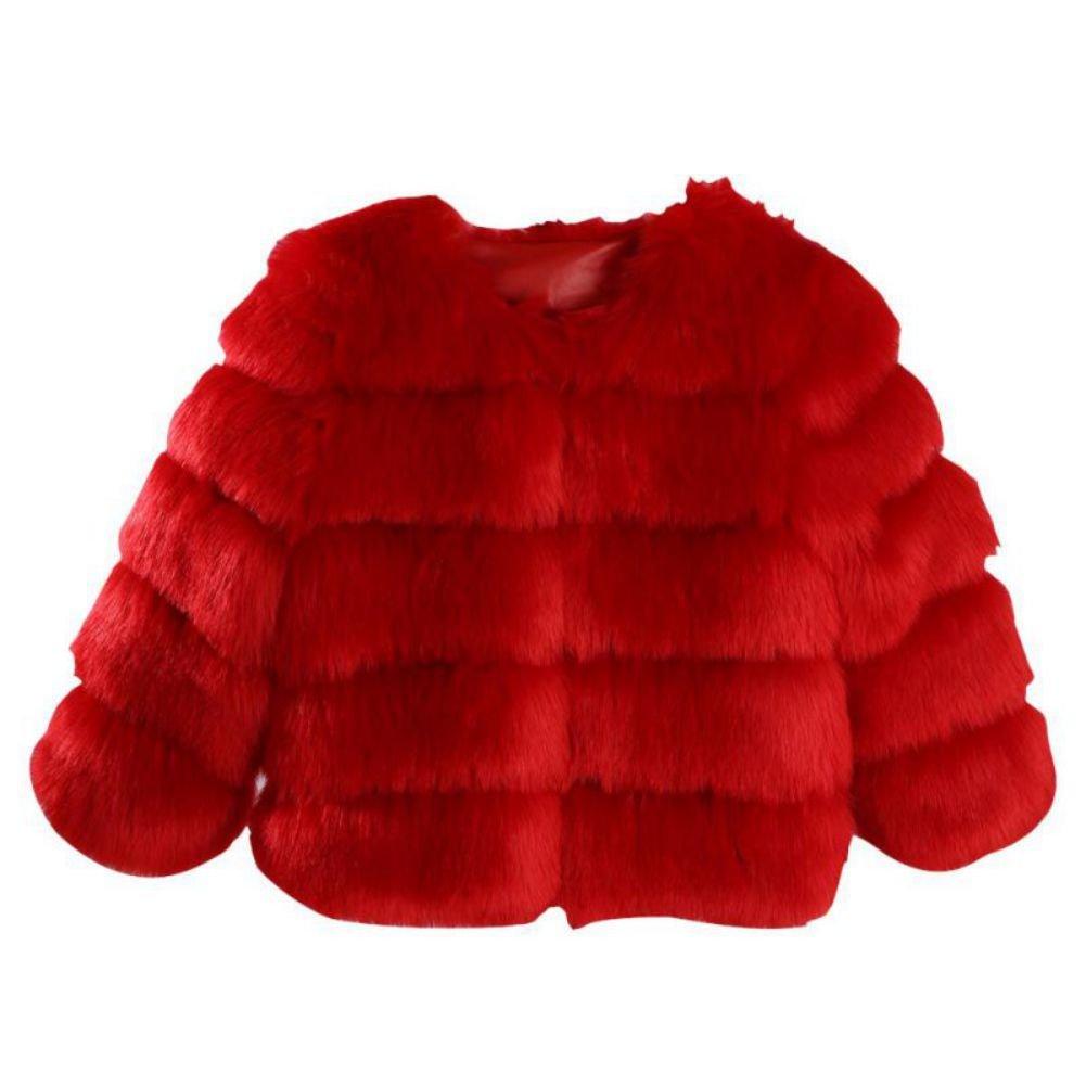 Froomer Women Faux Fox Fur Thick Short Jacket Plus Size Warm Parka Coat