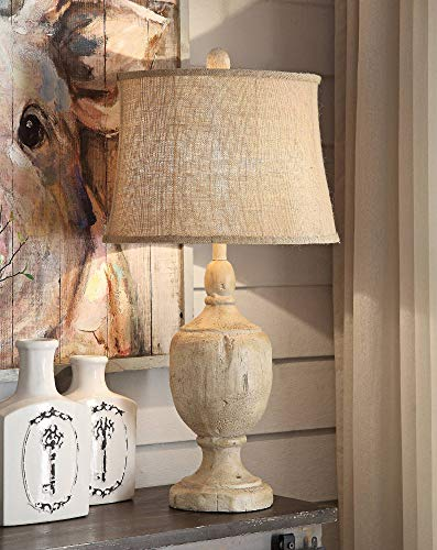 Crestview Collection Carson Bleached Wood Table Lamp ()