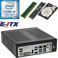 E-ITX ITX350 Asrock H270M-ITX-AC Intel Core i5-7400 (Kaby Lake) Mini-ITX System , 4GB DDR4, 120GB M.2 SSD, 2TB HDD, WiFi, Bluetooth, Pre-Assembled and Tested by E-ITX
