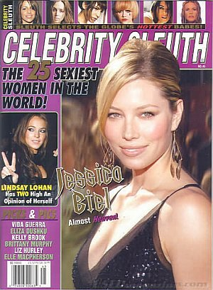 Celebrity Sleuth Number 45 Jessica Biel Issue