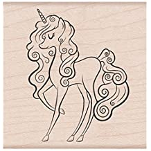 Hero Arts F6231 Unicorn Red Rubber Woodblock Stamp