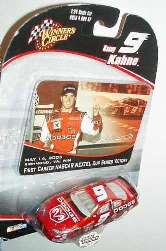 Nascar Dodge Charger - Kasey Kahne #9 Dodge Charger 1st Career Win Richmond 2005 1/64 Scale Diecast With Victory Lane Commemoration Sticker Winners Circle 2005