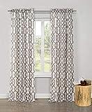 Home Maison Ashmont Rod Pocket Geomtric Pattern Blackout Darkening Window Curtain Pair Drape