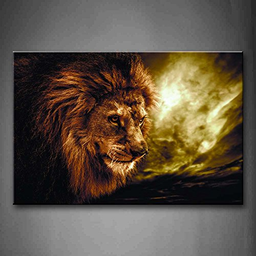 First Wall Art - Fierce Lion Head Portrait Wall Art Painting Pictures Print On Canvas Animal The Picture For Home Modern Decoration (Vegetable Portraits)