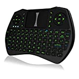 Backlit Wireless Mini Keyboard, 2.4GHz Illuminated Touchpad Air Mouse LED for PC, Laptop, PAD, Xbox 360, PS3, Android TV Box, HTPC (Black)