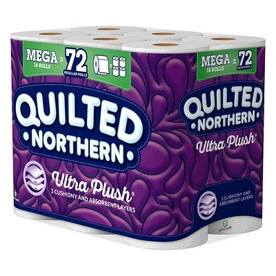 Price comparison product image Quilted Northern Ultra Plush Toilet Paper - 18 Mega Rolls