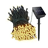 ifOlife 200LED Outdoor Solar String Lights 72ft 8 Modes Fairy Lights,Ambiance Lighting Sensor Control for Indoor Decor, Chrismas,Patio,Garden,Wedding Party,Landscape,Lawn (warm white)