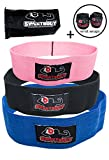 Cheap SweetBody Fitness Accessories 3pc Resistance Loop Bands Set for Hip, Legs & Booty with Wrist Wraps & Bag – Strong Elastic Strength, Mobility Training Equipment for Weightlifting, Gym, Exercise Workout